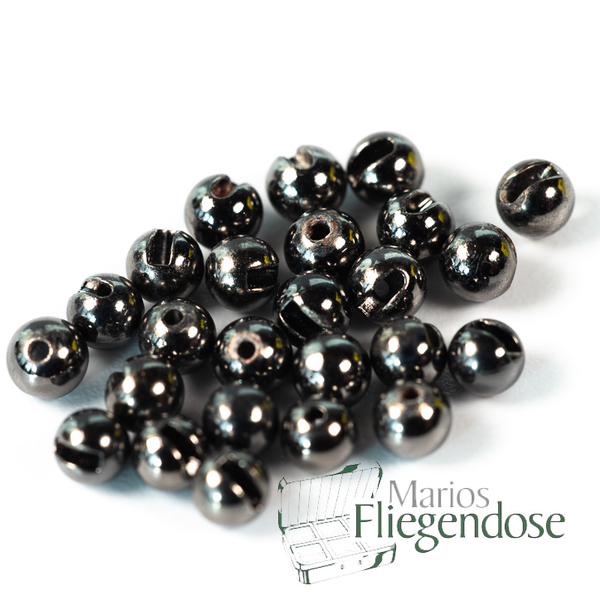 Tungsten Slotted Beads Black