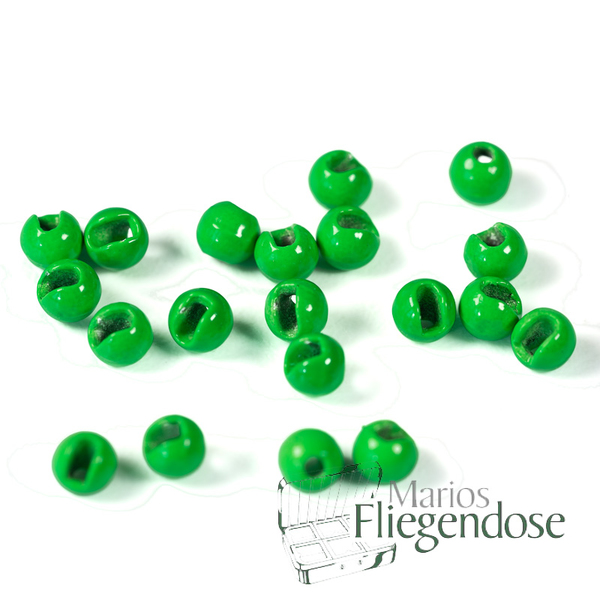 Tungsten Slotted Beads Fluo Green 3,8mm