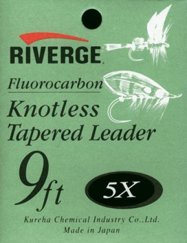Riverge Fluorocarbonvorfach Knotenlos 9ft (2,70m) 0,185mm...