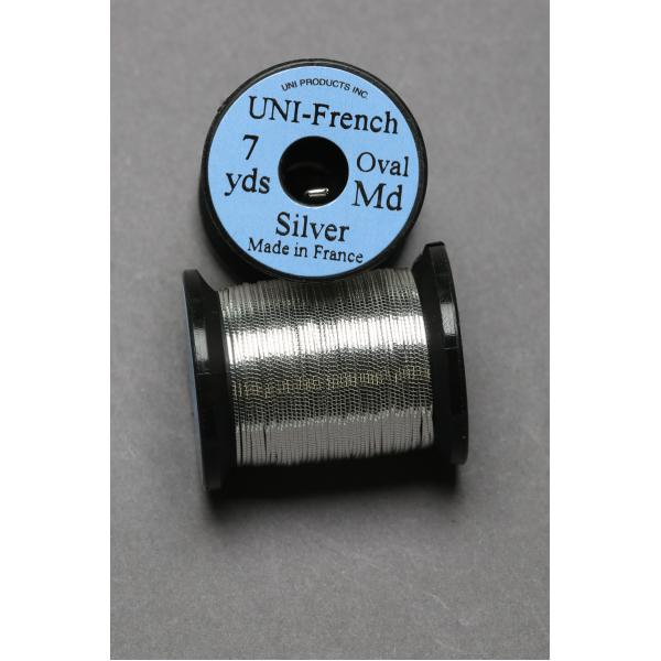 UNI French Oval Tinsel Silver