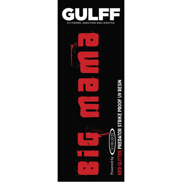 Gulff 15mm Big Mama Red Glitter