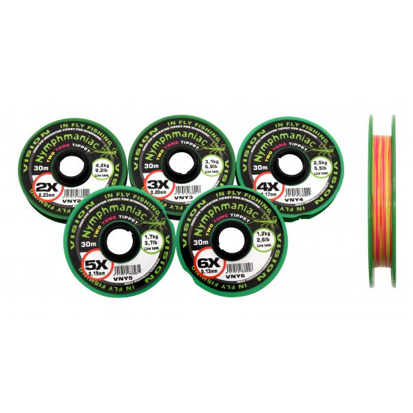 Vision Nymphmaniac Two Tone Tippet 3x - 0,20mm - 3,1kg