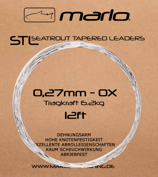Marlo Seatrout Tapered Leader 12ft (Meerforellenvorfach Fluorocarbon)