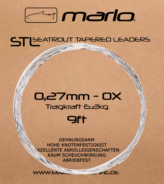 Marlo Seatrout Tapered Leader 9ft (Meerforellenvorfach Fluorocarbon)
