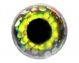 3D Augen Holo Yellow 4mm