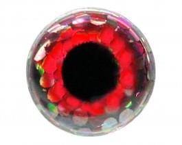 3D Augen Holo Red 7mm